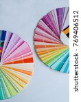 palette colors on a white... | Shutterstock . vector #769406512