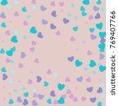 hearts confetti  bright...   Shutterstock .eps vector #769407766