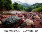river and natural. | Shutterstock . vector #769408312
