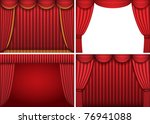 four backgrounds with red... | Shutterstock .eps vector #76941088