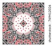 vector ornament paisley bandana ... | Shutterstock .eps vector #769412026