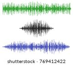 various sound waves. isolated... | Shutterstock .eps vector #769412422