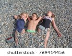 siblings have fun time on the... | Shutterstock . vector #769414456