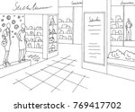 shopping mall graphic black... | Shutterstock .eps vector #769417702