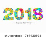 happy new year 2018 | Shutterstock .eps vector #769420936