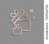 gift box  present line icon... | Shutterstock .eps vector #769426702