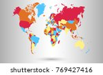 color world map vector. | Shutterstock .eps vector #769427416