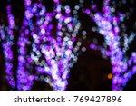 blur colorful bokeh background...   Shutterstock . vector #769427896