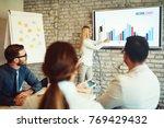 creative business team working...   Shutterstock . vector #769429432