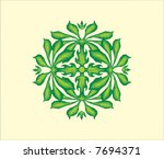 vector sculptured ornament | Shutterstock .eps vector #7694371