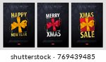 set of marry christmas and... | Shutterstock .eps vector #769439485