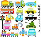 vector of transportation theme... | Shutterstock .eps vector #76944043
