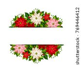 vector christmas banner with... | Shutterstock .eps vector #769446412