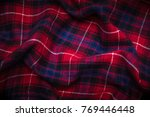 close up background of plaid... | Shutterstock . vector #769446448