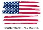grunge usa flag.vintage flag of ... | Shutterstock .eps vector #769452316