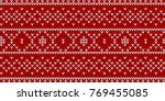 christmas traditional seamless... | Shutterstock .eps vector #769455085