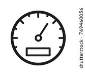 speedometer vector icon  line... | Shutterstock .eps vector #769460056