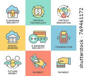 icons of digital technology in... | Shutterstock .eps vector #769461172