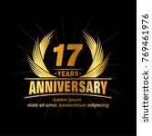 17 years design template.... | Shutterstock .eps vector #769461976