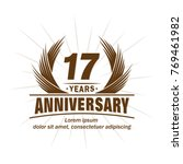 17 years design template.... | Shutterstock .eps vector #769461982