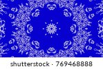 ornaments on blue background | Shutterstock . vector #769468888