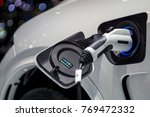 close up of the hybrid car... | Shutterstock . vector #769472332