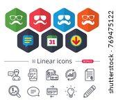 calendar  speech bubble and... | Shutterstock .eps vector #769475122
