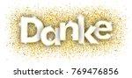 german text danke  translate... | Shutterstock .eps vector #769476856