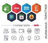 calendar  speech bubble and... | Shutterstock .eps vector #769477405