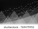 financial growth  revenue graph ... | Shutterstock .eps vector #769479952