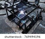 spark light isolated.steel... | Shutterstock . vector #769494196