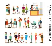 relationship concept vector... | Shutterstock .eps vector #769494886