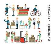 vector illustration of postal... | Shutterstock .eps vector #769494892