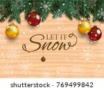 christmas card with detailed... | Shutterstock .eps vector #769499842