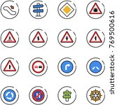 line vector icon set  ... | Shutterstock .eps vector #769500616