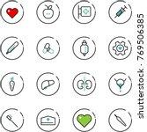 line vector icon set   heart...   Shutterstock .eps vector #769506385