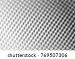 abstract monochrome halftone... | Shutterstock .eps vector #769507306