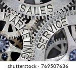 macro photo of tooth wheel...   Shutterstock . vector #769507636