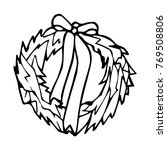 christmas wreath illustration.... | Shutterstock . vector #769508806