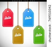 colorful price tags set | Shutterstock .eps vector #769510342