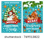 merry christmas wish template... | Shutterstock .eps vector #769513822