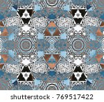 ethnic design. striped... | Shutterstock . vector #769517422