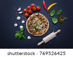 food ingredients and spices for ... | Shutterstock . vector #769526425