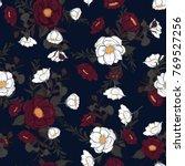 trendy  floral pattern in...   Shutterstock .eps vector #769527256