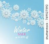 winter christmas snowflake... | Shutterstock .eps vector #769527592