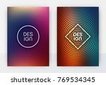 minimal abstract cover design... | Shutterstock .eps vector #769534345