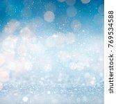 abstract light bokeh background.... | Shutterstock . vector #769534588