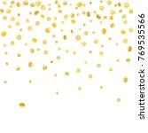 golden confetti on a white... | Shutterstock .eps vector #769535566
