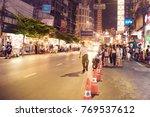 chinatown  bangkok  thailand  ... | Shutterstock . vector #769537612