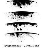 grunge paint stripe . vector... | Shutterstock .eps vector #769538455